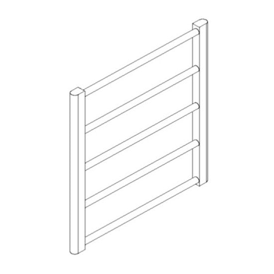 "Artos MR06560H-PN Ryton 26"" x 24"" Towel Warmer Hydronic (Angled Valves) in Polished Nickel - Mega Supply Store"