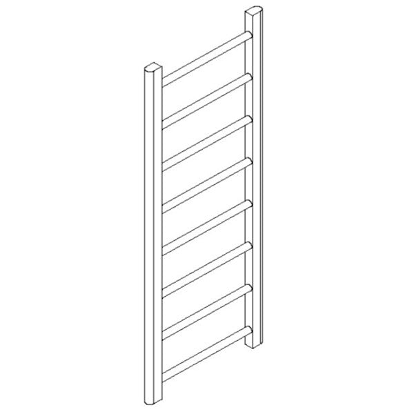 "Artos MR12045H-PN Ryton 47"" x 18"" Towel Warmer Hydronic (Angled Valves) in Polished Nickel - Mega Supply Store"