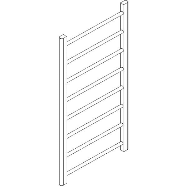 "Artos MR12060H-PN Ryton 47"" x 24"" Towel Warmer Hydronic (Angled Valves) in Polished Nickel - Mega Supply Store"