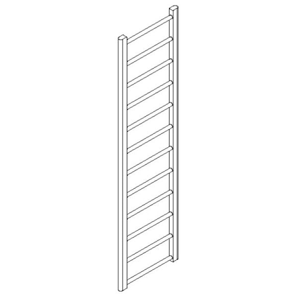 "Artos MR17645H-PN Ryton 69"" x 18"" Towel Warmer Hydronic (Angled Valves) in Polished Nickel - Mega Supply Store"