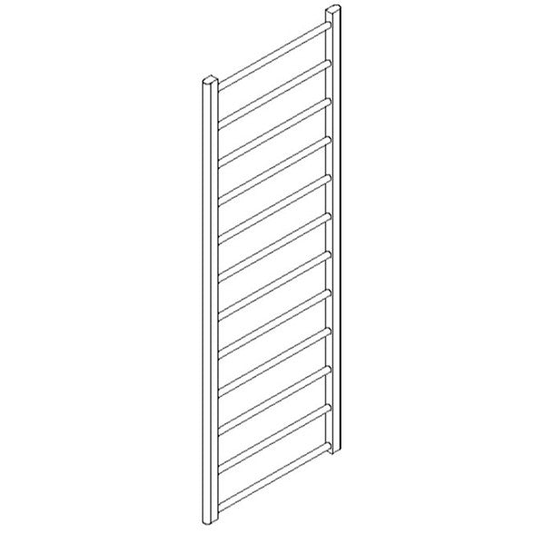 "Artos MR17660H-PN Ryton 69"" x 24"" Towel Warmer Hydronic (Angled Valves) in Polished Nickel - Mega Supply Store"