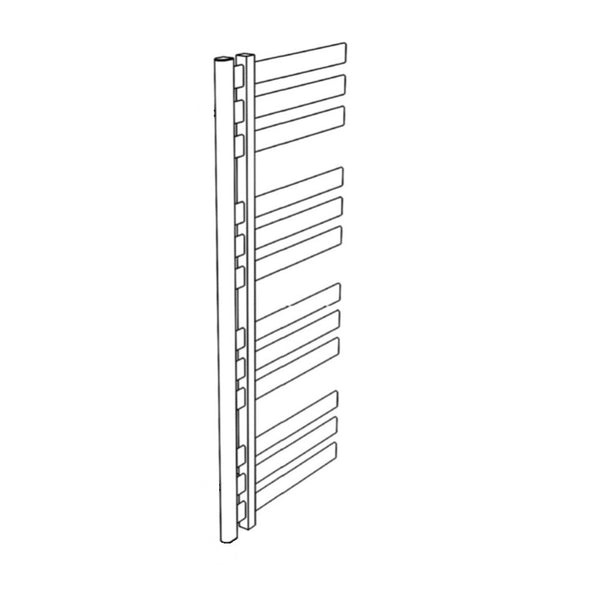 "Artos MS12250H-PN Lioni 48"" x 20"" Towel Warmer Hydronic (Angled Valves) in Polished Nickel - Mega Supply Store"