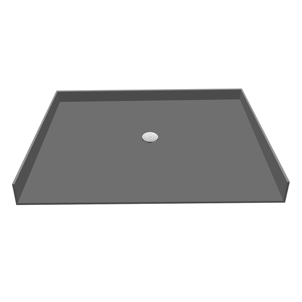 "Tile Redi P3763CBF-PVC 37"" x 63"" 63"" Barrier Free Entry, Integrated Center PVC Drain Shower Pan/Tray - Mega Supply Store"