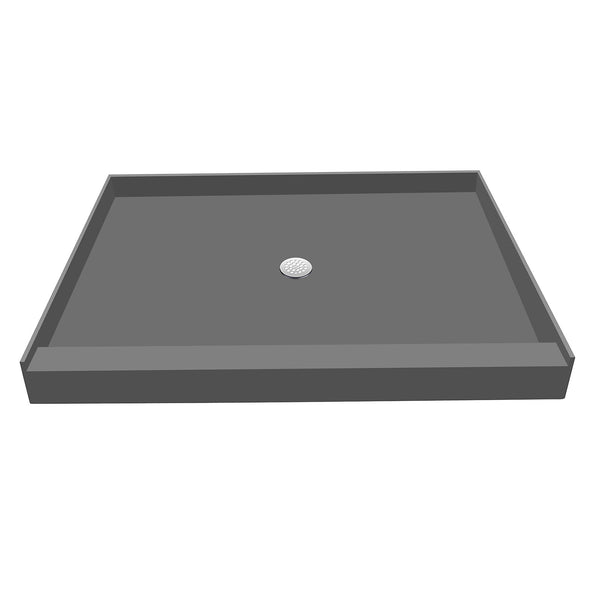 "Tile Redi P3042C-PVC 30"" x 42"" Single Threshold on 42"" side, Integrated Center PVC Drain Shower Pan/Tray - Mega Supply Store"