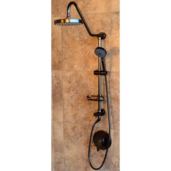 pulse 1011orb oil rubbed bronze kauai showerhead with handheld and wire