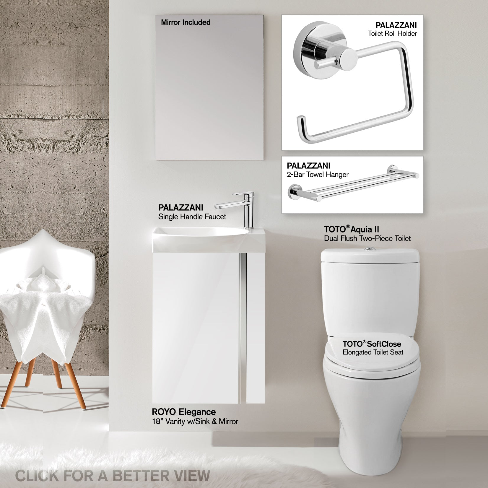 Small Bathroom Set: TOTO Toilet, 18\