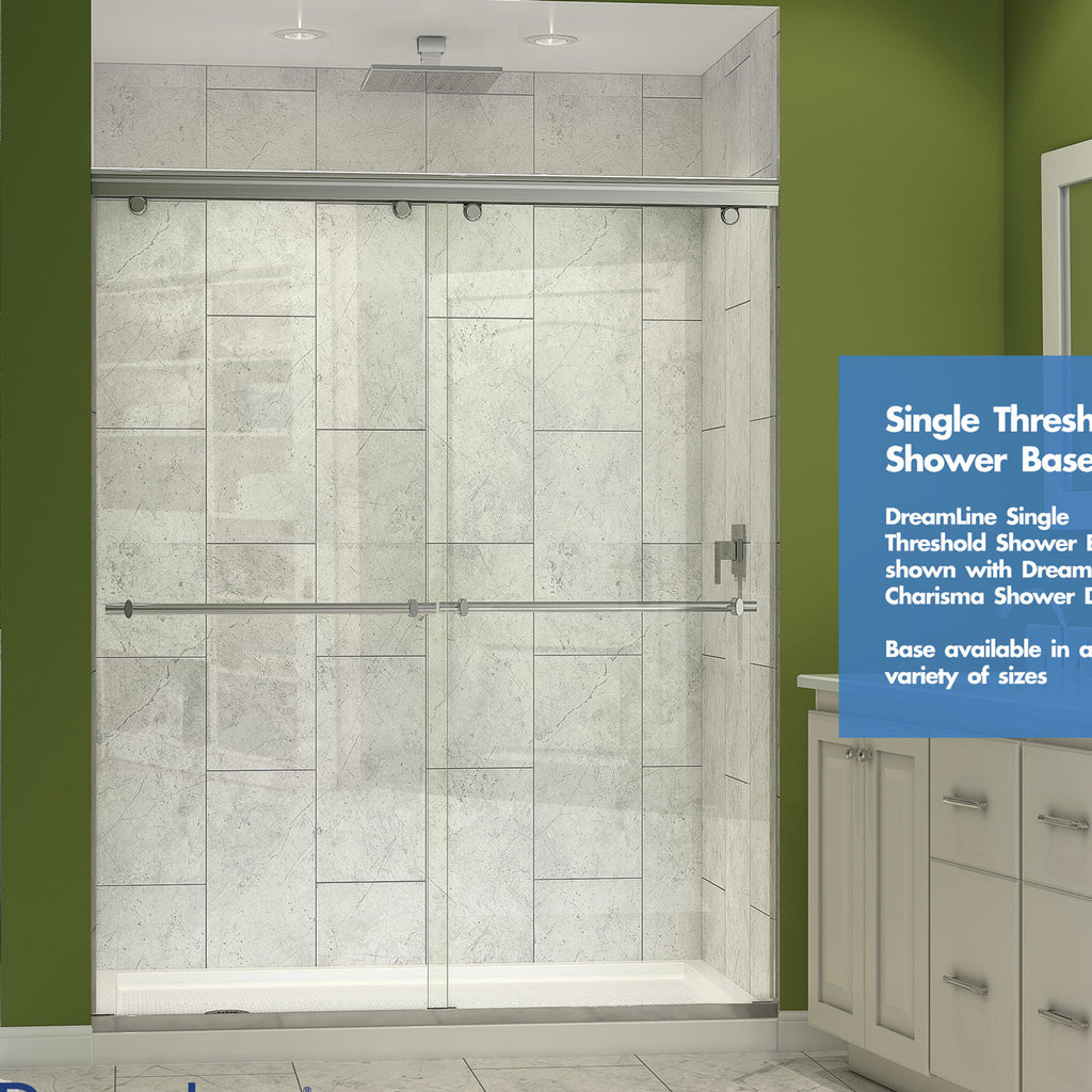 DreamLine DLT 1132480 Single Threshold Shower Base 32 In. D X 48 In.