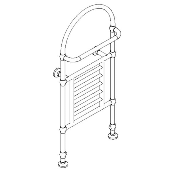 "Artos T-SEVH-CH Severn 53"" x 24"" Floor Mount Towel Warmer Hydronic (Traditional Valves) in Chrome - Mega Supply Store"
