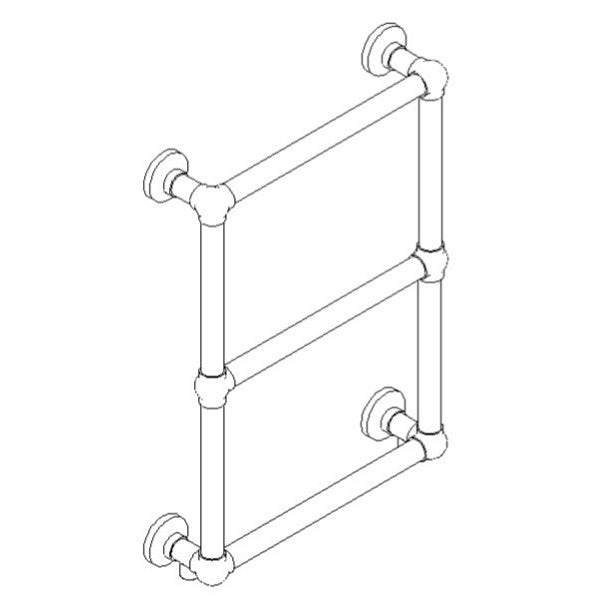 "Artos T-STO50H-CH Stour 27"" x 20"" Wall Mount Towel Warmer Hydronic (Traditional Valves) in Chrome - Mega Supply Store"