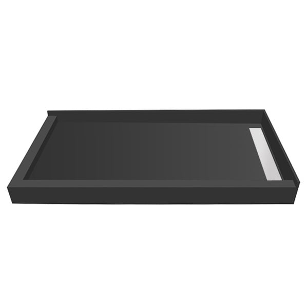 "Tile Redi WF3060RDL-PVC-2.5 30"" x 60"" fully Integrated Right PVC WonderFall Shower Pan/Tray with Left Dual Curb - Mega Supply Store"