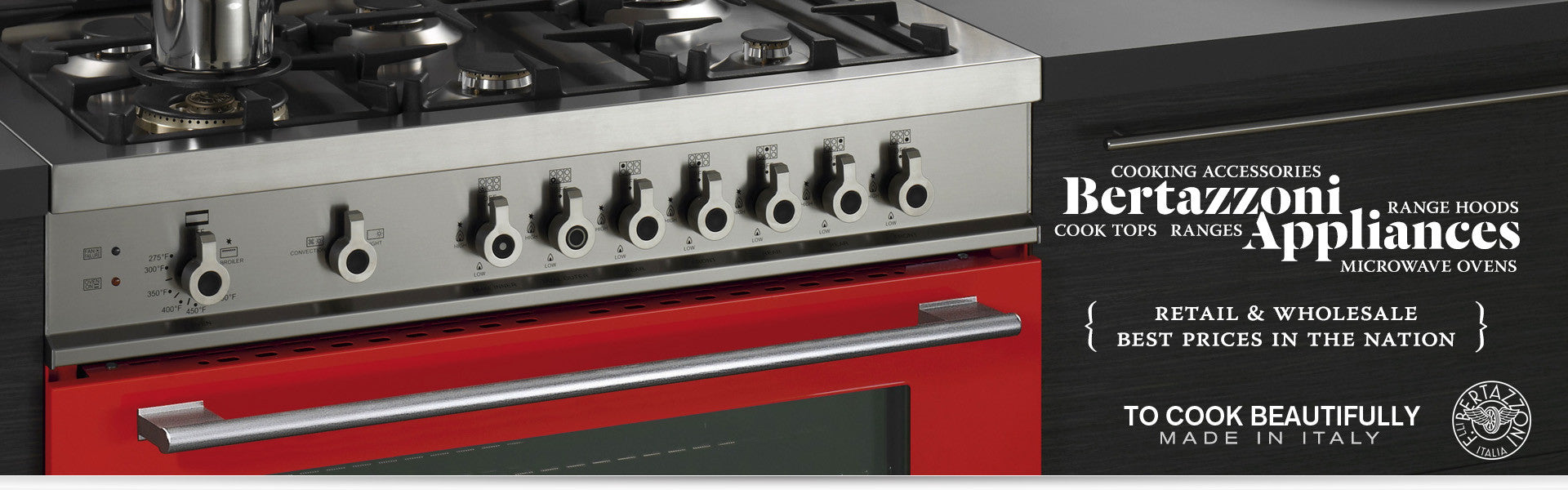 Bertazzoni Appliances at Mega Supply Store