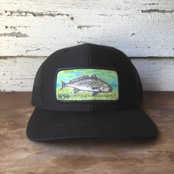 Original Painted Redfish Scene Hat