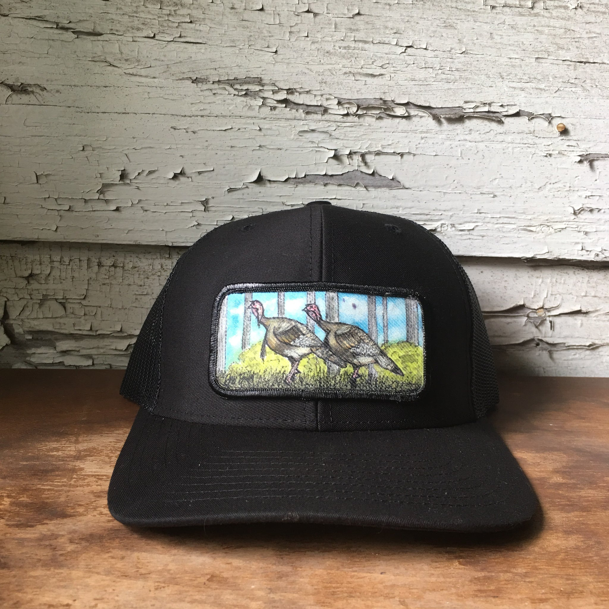 Original Painted Turkey Scene Hat