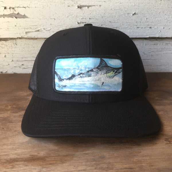 Original Painted Marlin Scene Hat