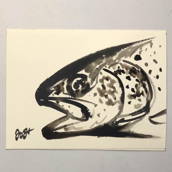 Contemporary series- brown trout
