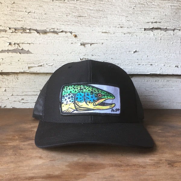 Original Hand Drawn Brown Trout Hat