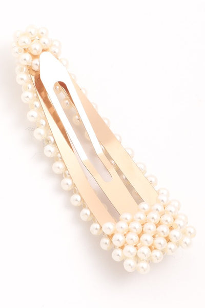 Cut Out Pearl Hair Clip