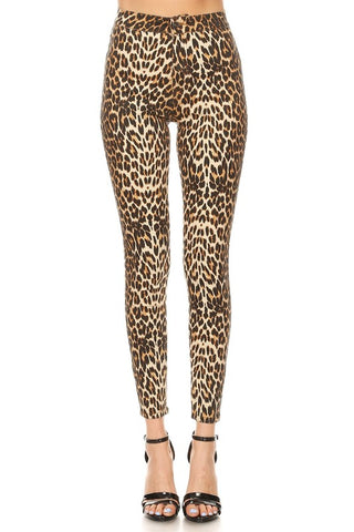 Leopard Skinny Jeans High waisted