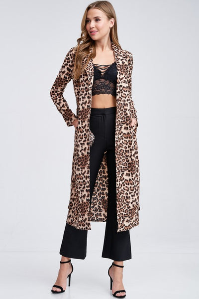 ANIMAL PRINT TRENCH JACKET