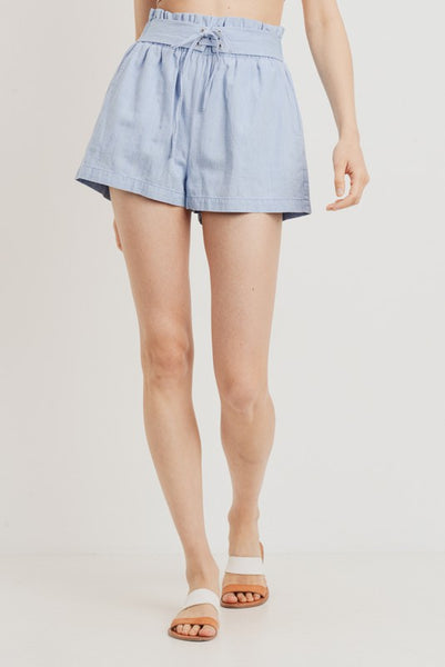 Chambray Denim Shorts