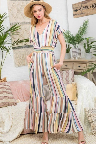 Rainbow Neck Jumpsuit