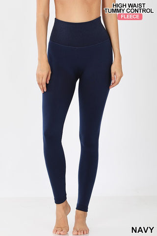 Tummy Control High Waist Fleece Leggings
