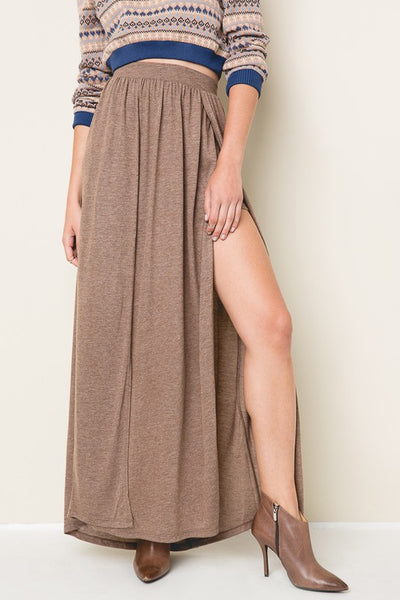 Double Slit Jersey Skirt