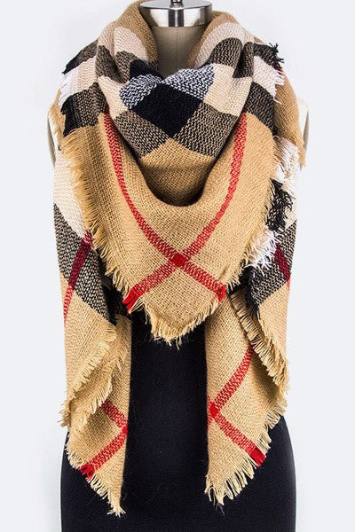 Mad For Plaid Fashion Blanket Scarf