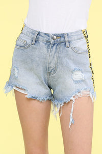 Caution Now Denim Shorts