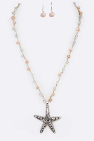 Drop Starfish Necklace