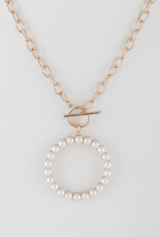 Open Cut Round Chain Necklace