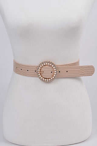 Rhinestone and Pearls round Belt