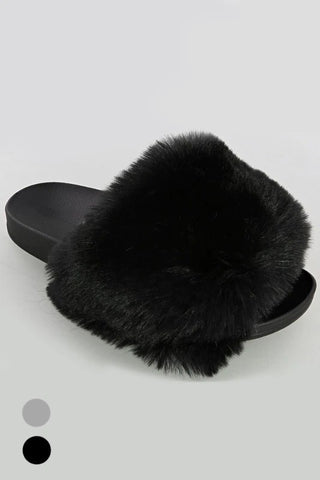 Soft Faux Fur Slipper Sliders