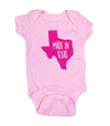 Made In Texas Onesie - Pink