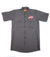 Official The Texas Bucket List Button Up - Charcoal Gray