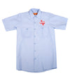 Official The Texas Bucket List Button Up - Light Blue