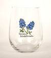 Texas Bluebonnet Wine Glasses