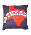 Official The Texas Bucket List Throw Pillow