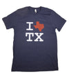 I Love Texas T-Shirt - Blue