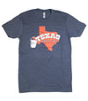 The Texas Bucket List Official T-Shirt - Heather Navy