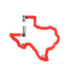 Texas Shaped Carabiner Keychain