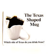 The Texas Shaped Mug - White