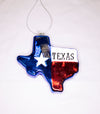 Texas Flag Shaped Ornament