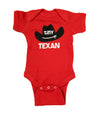 Tiny Texan Onesie, Red
