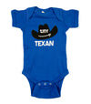 Tiny Texan Onesie, Blue