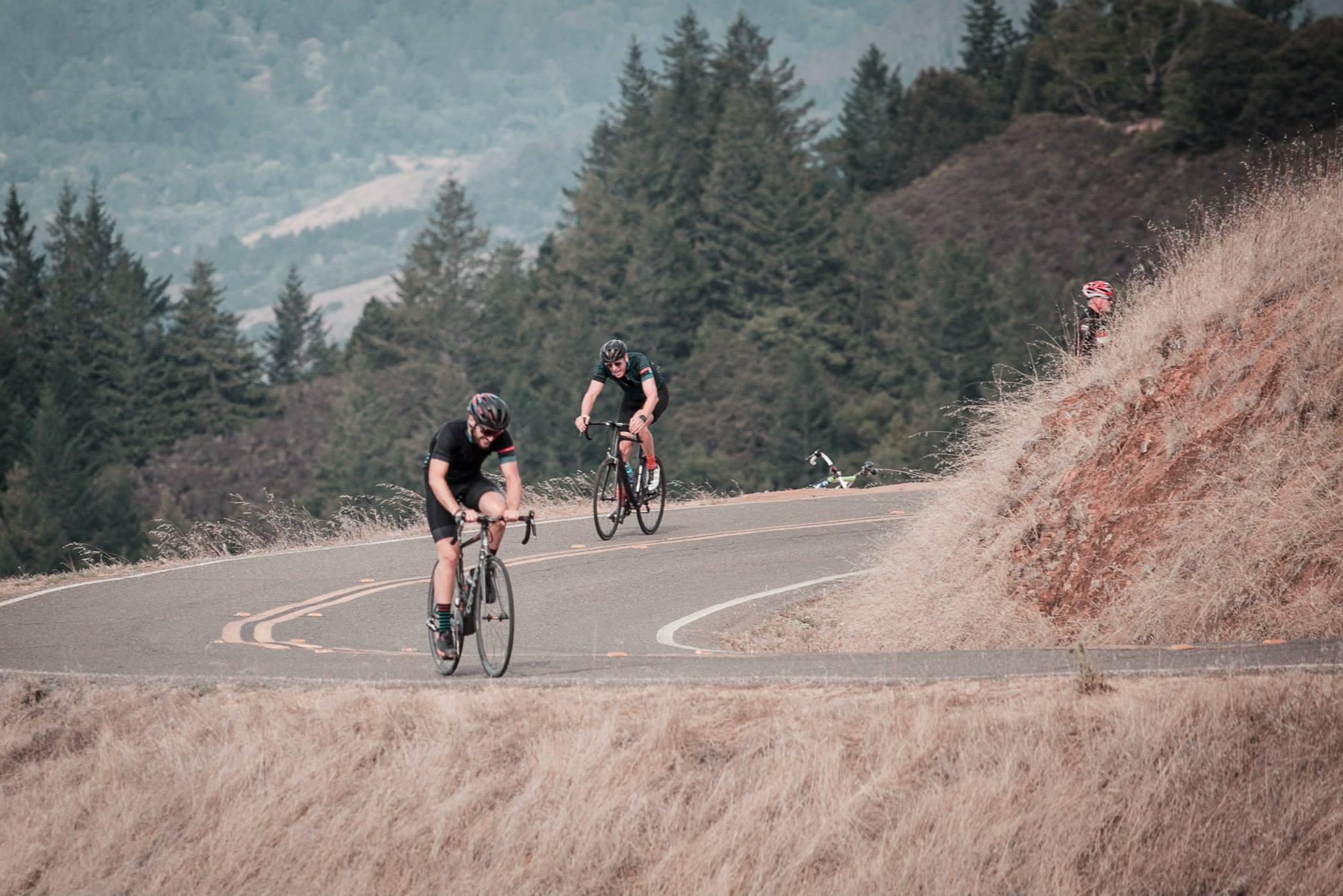 Ornot Black and Blue Line Jersey Mt Tam Hill Climb