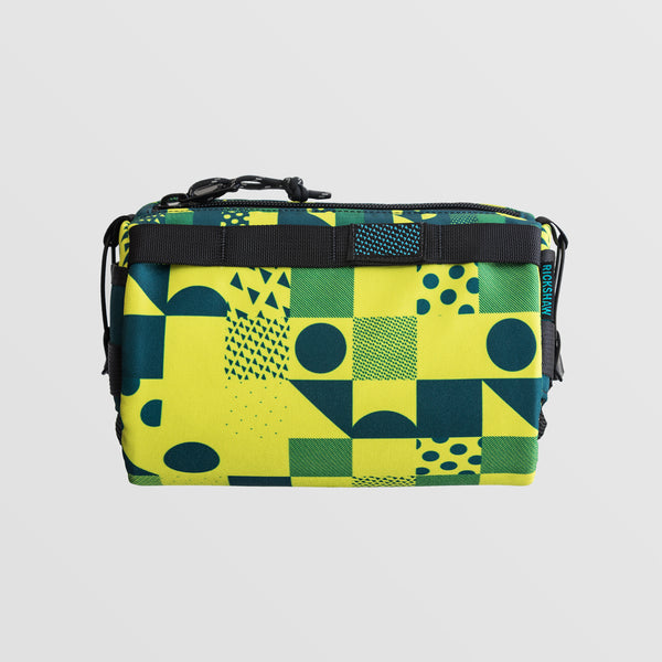 Code Bar Bag - Citron and Blue