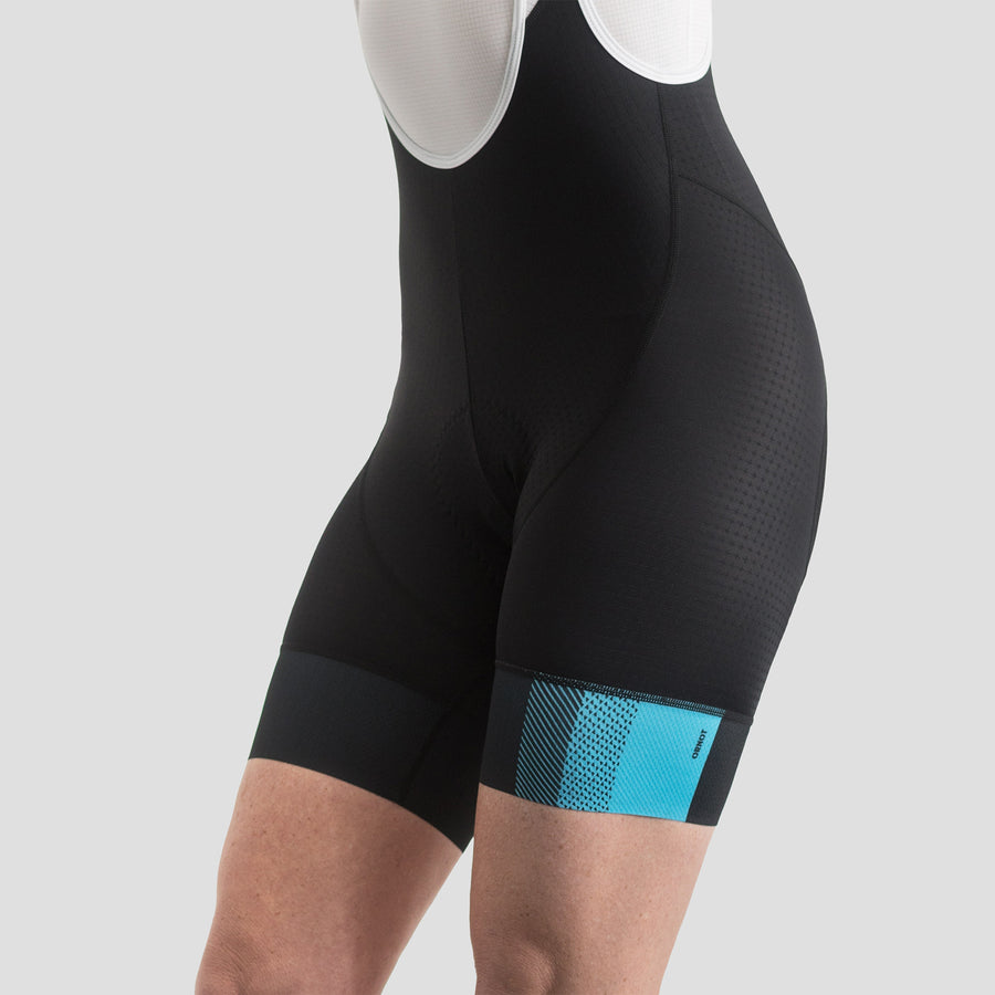 Womens House Bib Shorts - Block Blue