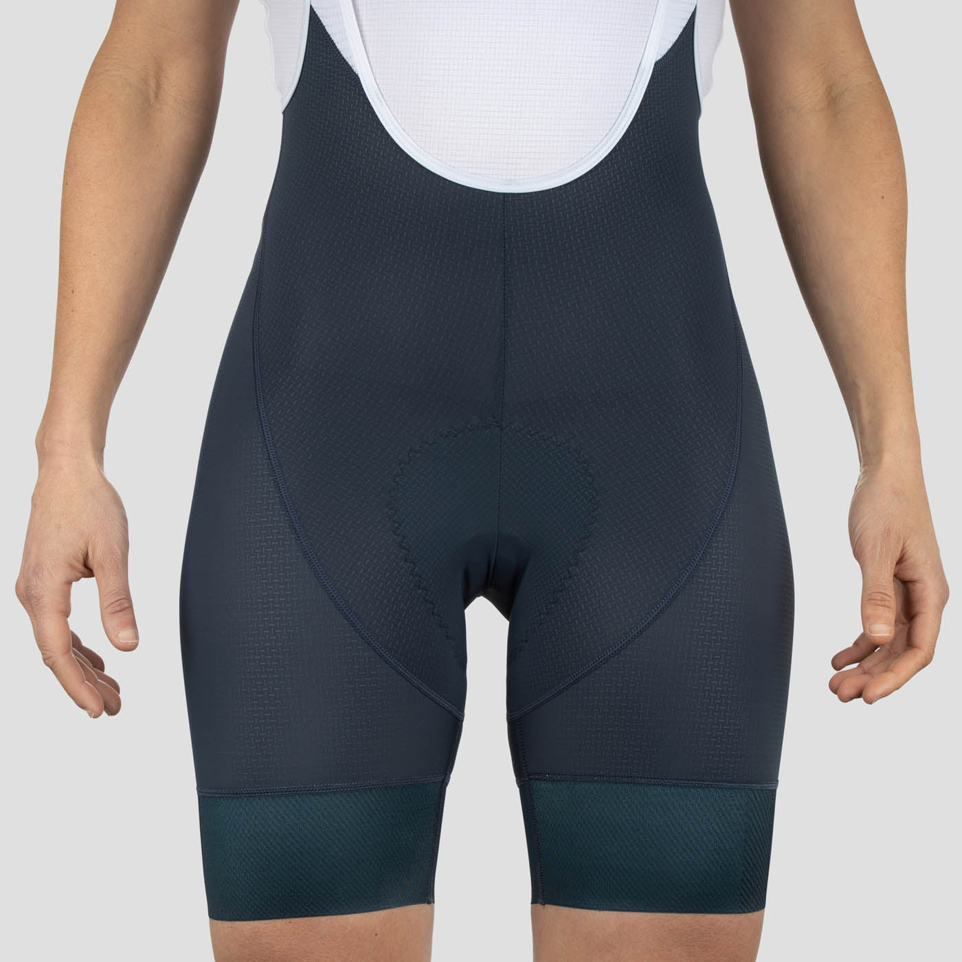 Womens House Bib Shorts - Stone Blue