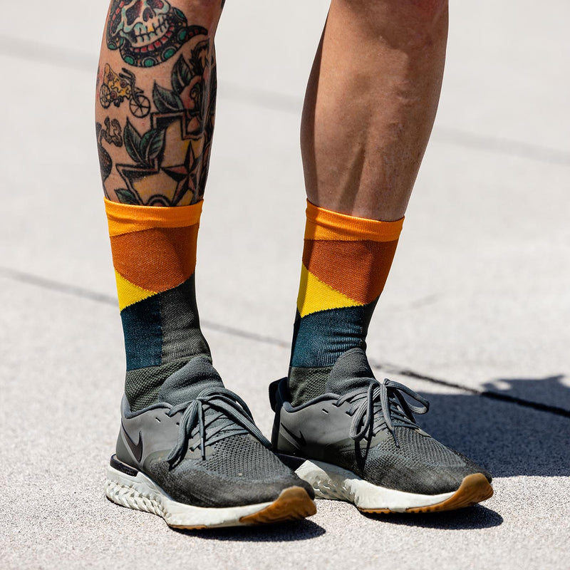 Intersection Olive Orange Sock